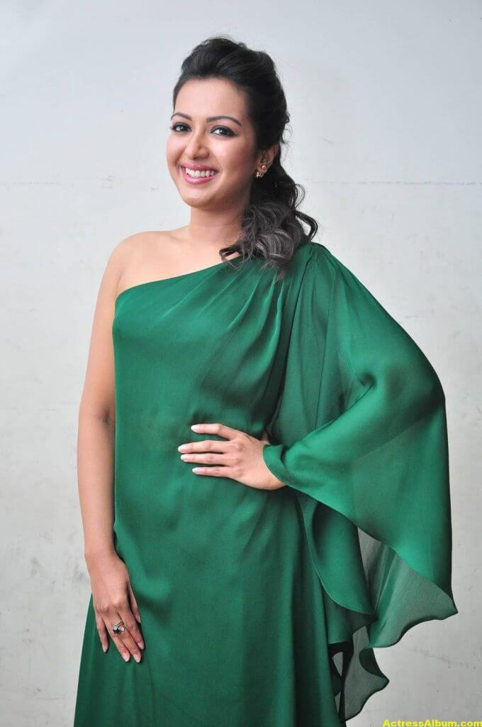 Catherine Tresa Latest Hot Photos In Green Dress 4