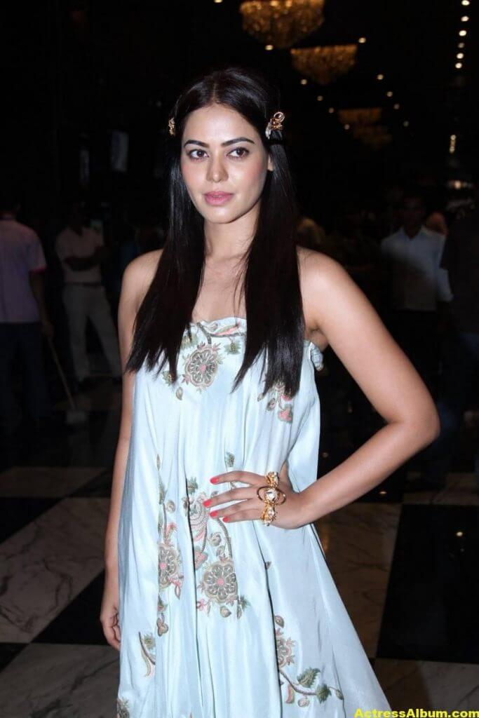 Glamorous Bindu Madhavi Photos In Blue Dress 1