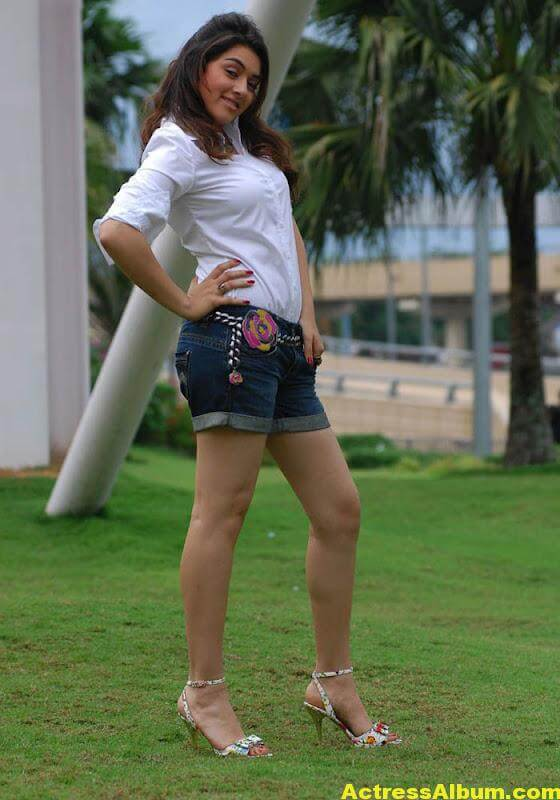 Hansika Legs Show Hot Images In White Dress 3