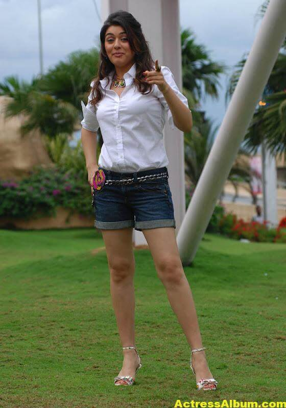 Hansika Legs Show Hot Images In White Dress 5