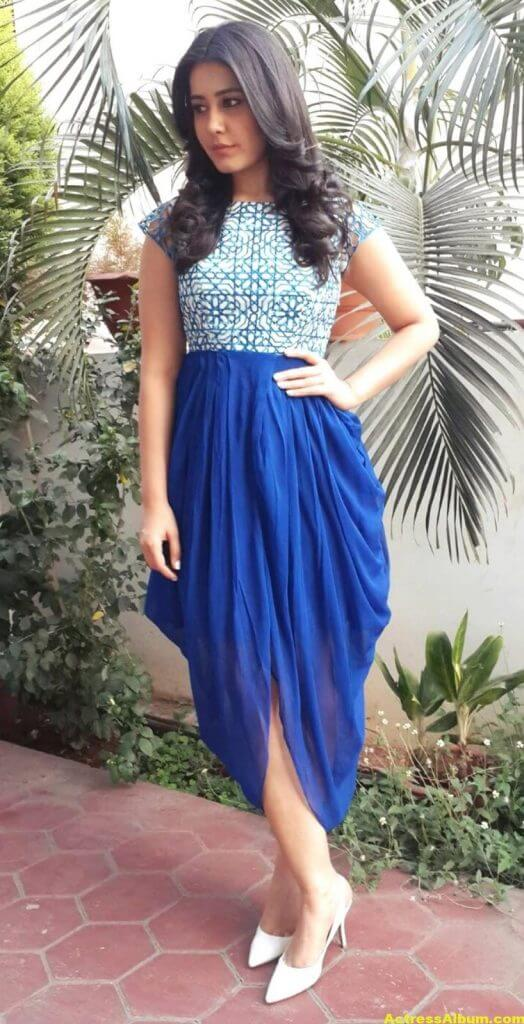 Hot Photoshoot Of Rashi Khanna In Blue Dress 1