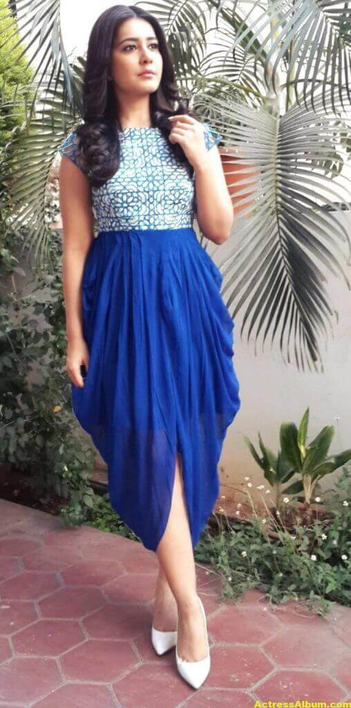 Hot Photoshoot Of Rashi Khanna In Blue Dress 2