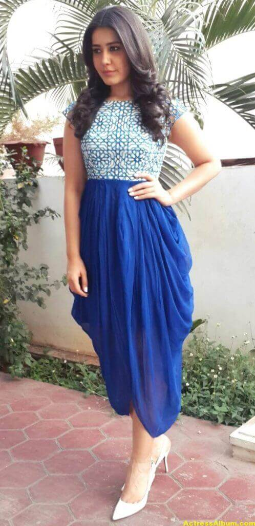 Hot Photoshoot Of Rashi Khanna In Blue Dress 4