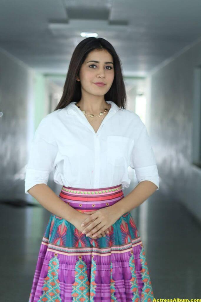 Hot Heroine Rashi Khanna Photoshoot In White Dress