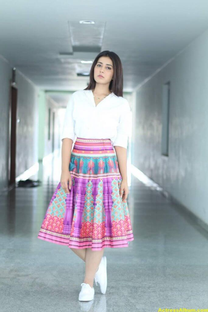 Hot Rashi Khanna Photoshoot In White Dress 2