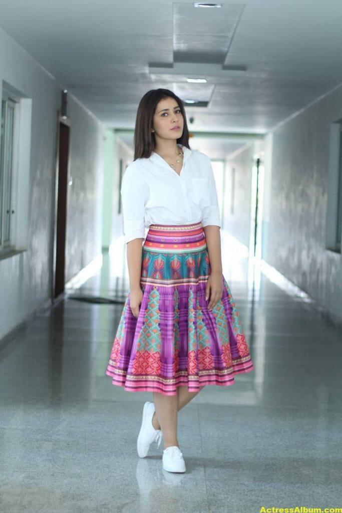 Hot Rashi Khanna Photoshoot In White Dress 3
