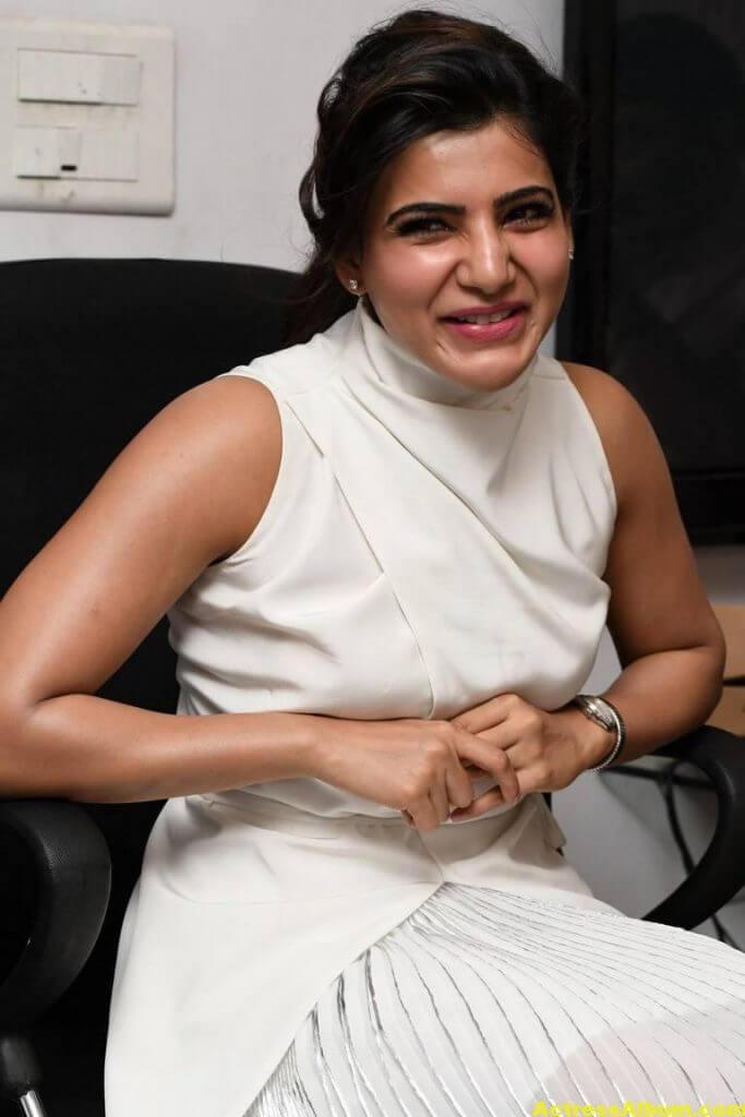 Hot Samantha Pics In White Dress 6