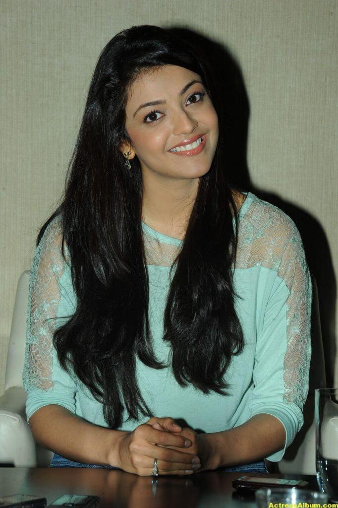 Kajal Agarwal Latest Photos In Blue Dress Jeans 1