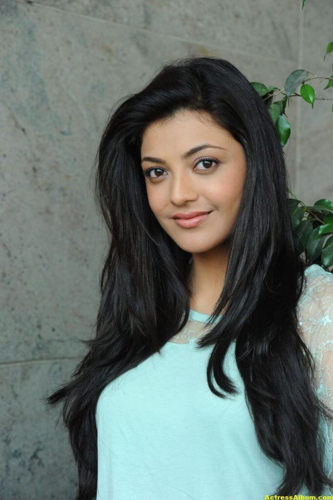 Kajal Agarwal Latest Photos In Blue Dress Jeans 2