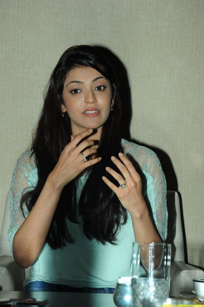Kajal Agarwal Latest Photos In Blue Dress Jeans 3