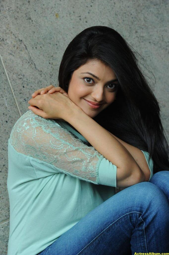 Kajal Agarwal Latest Photos In Blue Dress Jeans - Actress -1045