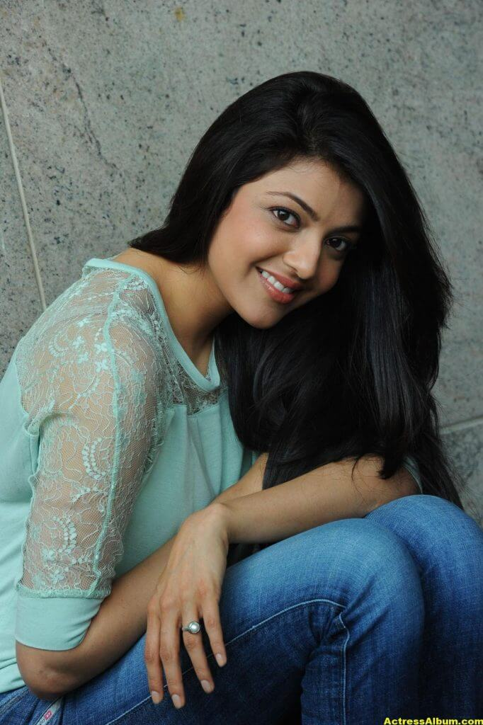 Kajal Agarwal Latest Photos In Blue Dress Jeans 8