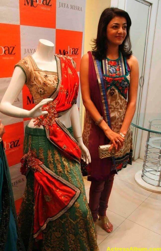 Kajal Agarwal latest Stills In Designer Dress 2