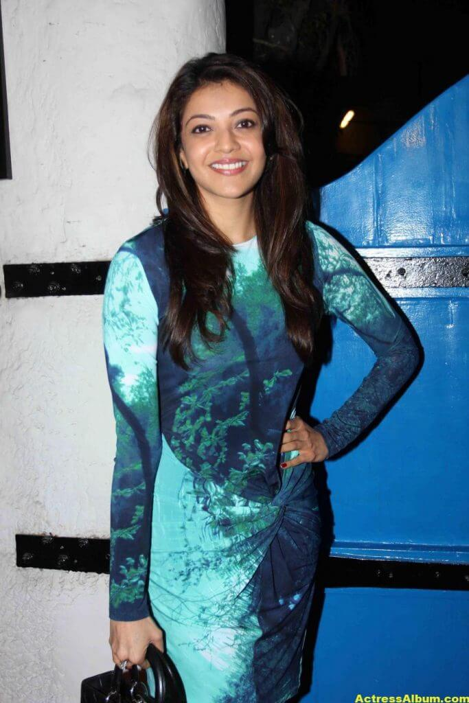 Mumbai: Actor Kajal Aggarwal during the launch of Fashion photographer Dabboo Ratnani's 2015 calendar in Mumbai, on 5th Jan 2015 (Photo: IANS)