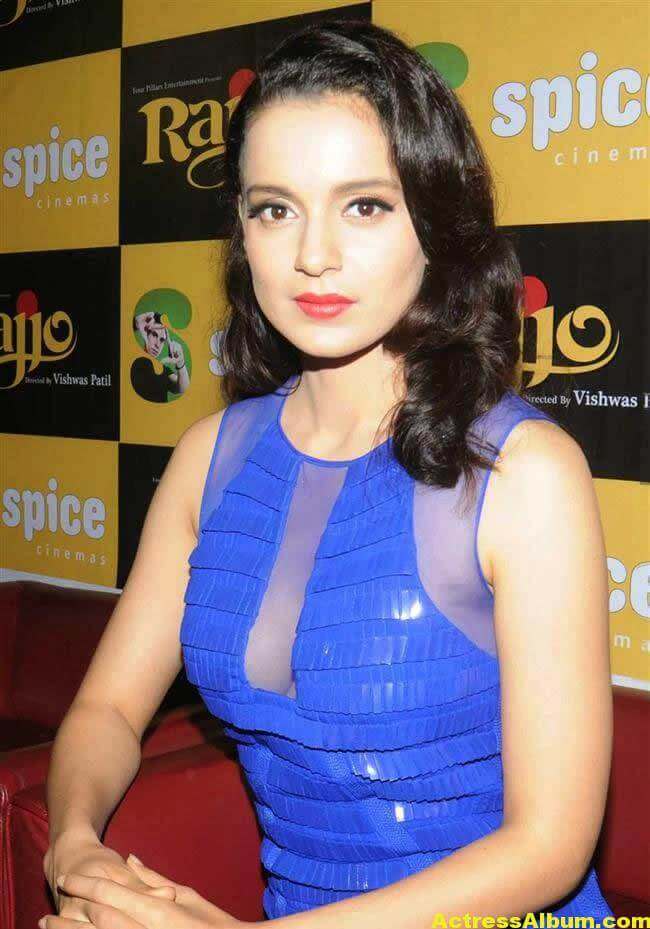 Kangana Ranaut Latest Unseen Hot Photos In Beautiful Blue Dress 1
