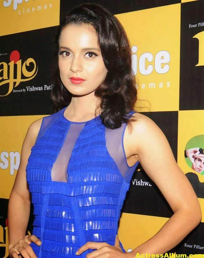 Kangana Ranaut Latest Unseen Hot Photos In Beautiful Blue Dress 2