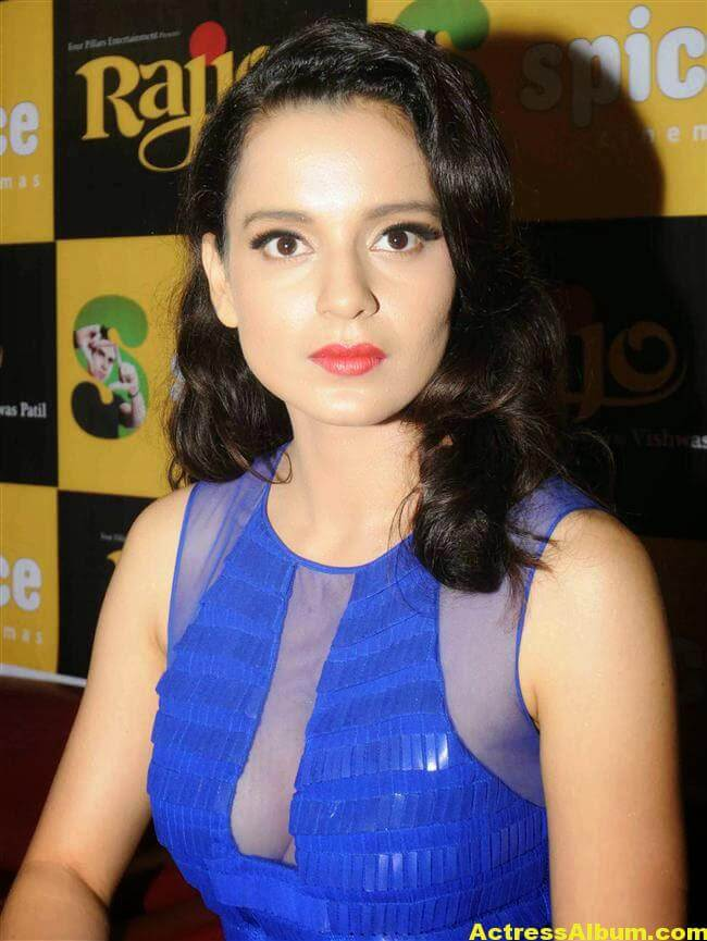 Kangana Ranaut Latest Unseen Hot Photos In Beautiful Blue Dress 3