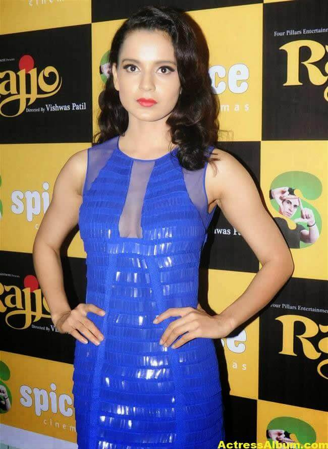 Kangana Ranaut Latest Unseen Hot Photos In Beautiful Blue Dress 4