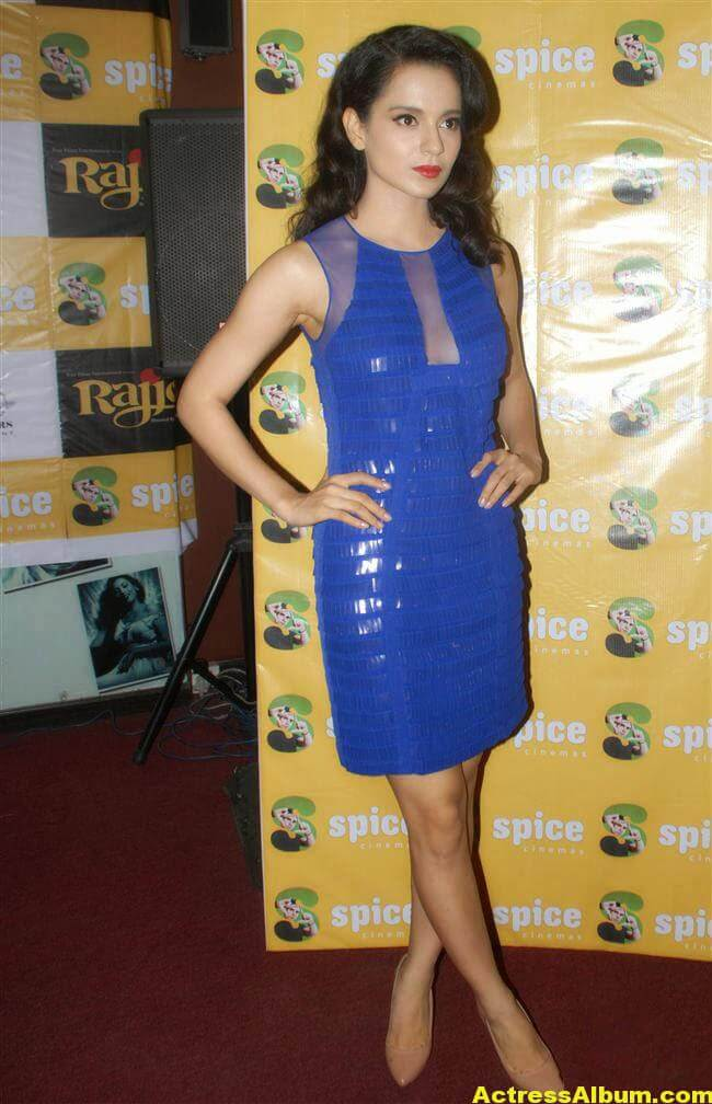 Kangana Ranaut Latest Unseen Hot Photos In Beautiful Blue Dress 5
