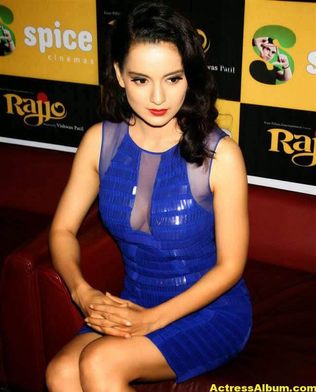 Kangana Ranaut Latest Unseen Hot Photos In Beautiful Blue Dress 6