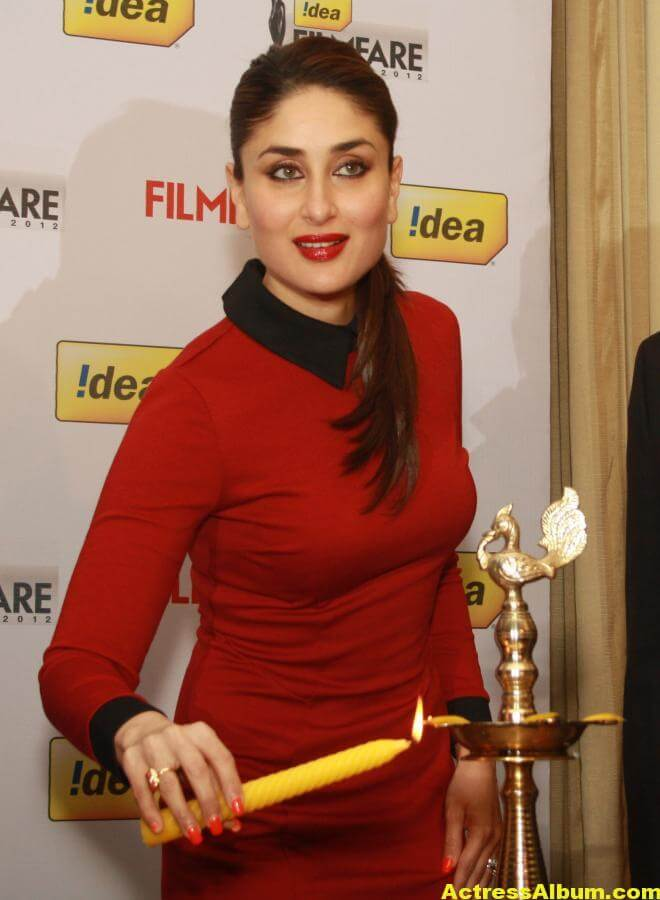 Kareena Kapoor Beautiful Pics In Red Dress 5
