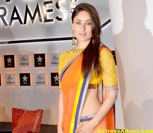 Kareena Kapoor Latest Photos in Yellow Saree 1