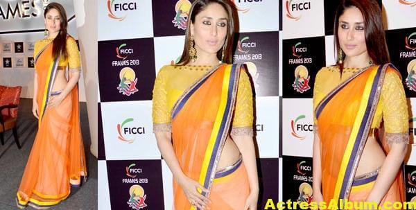 Kareena Kapoor Latest Photos in Yellow Saree 2