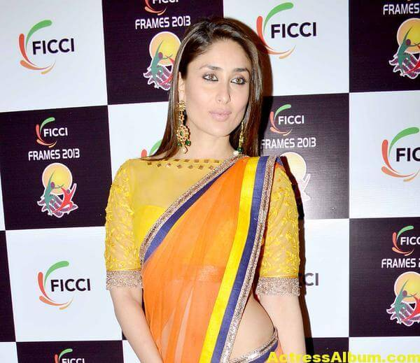 Kareena Kapoor Latest Photos in Yellow Saree 3