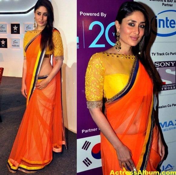 Kareena Kapoor Latest Photos in Yellow Saree 4