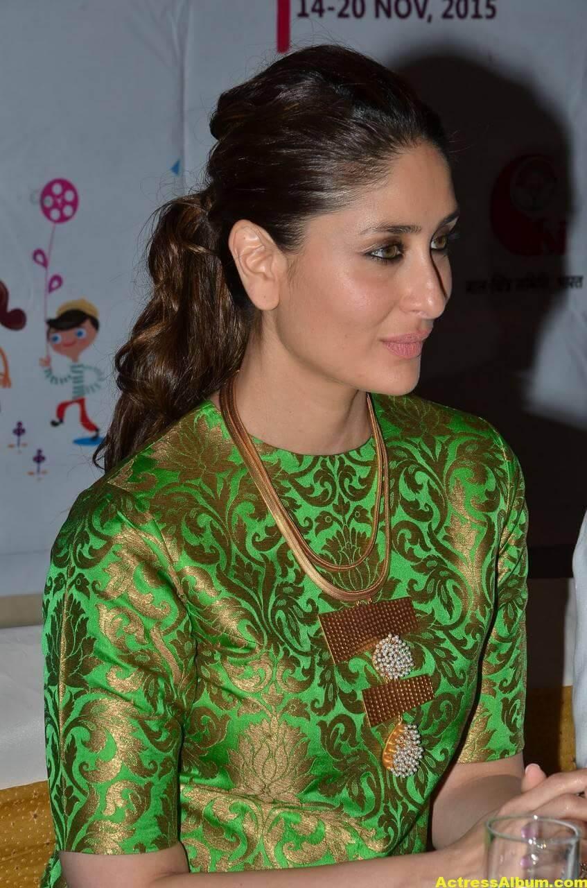 Kareena Kapoor Latest Stills In Green Dress 2