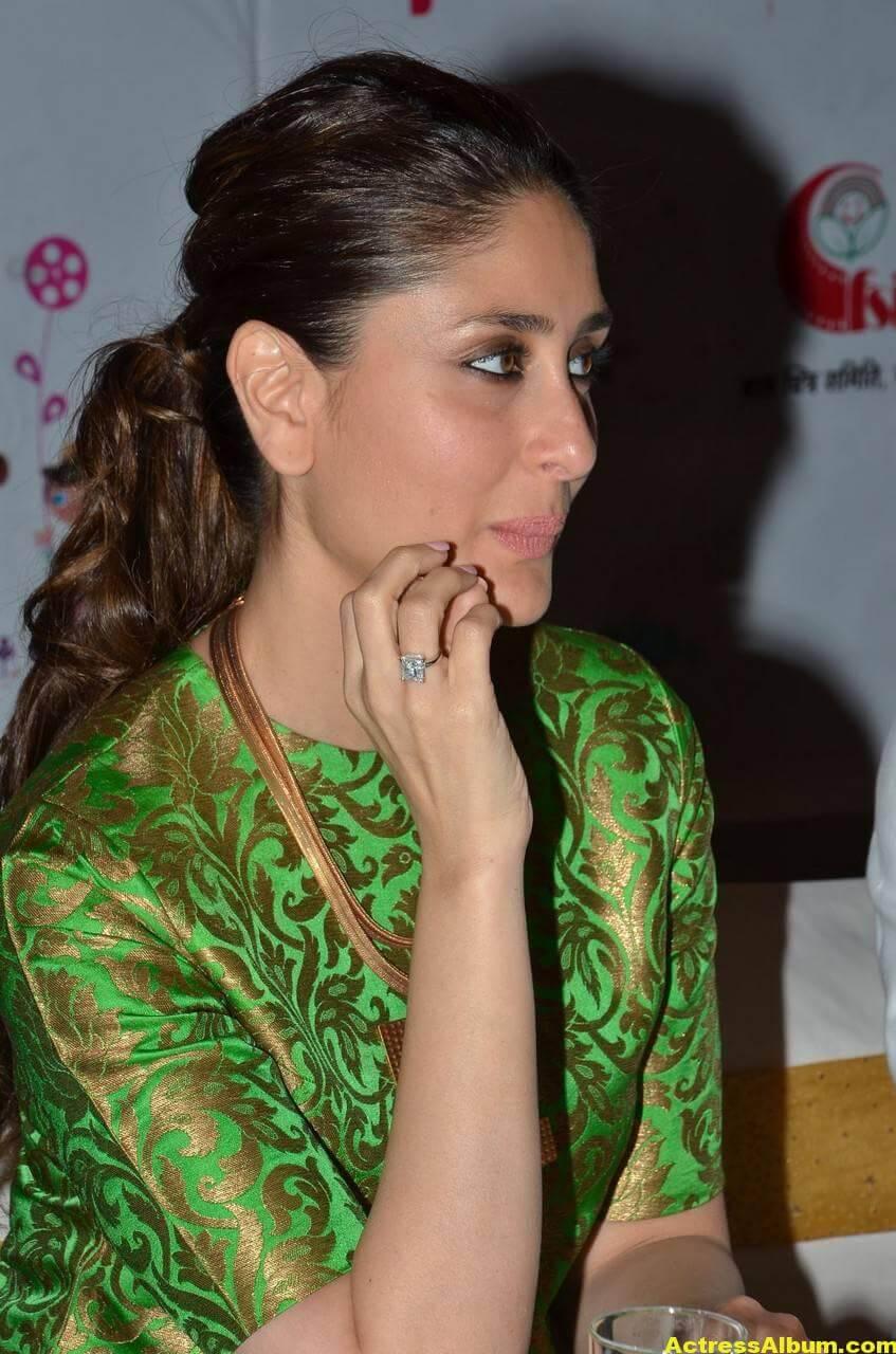 Kareena Kapoor Latest Stills In Green Dress 3