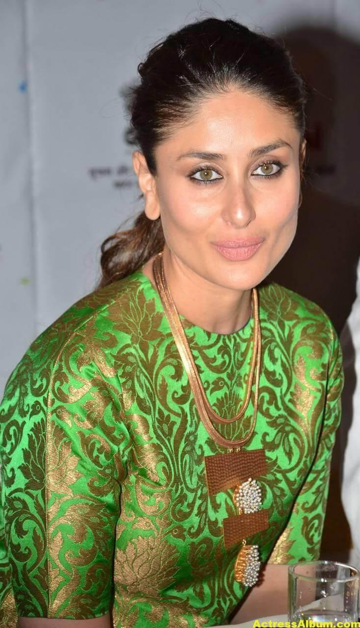 Kareena Kapoor Latest Stills In Green Dress 4