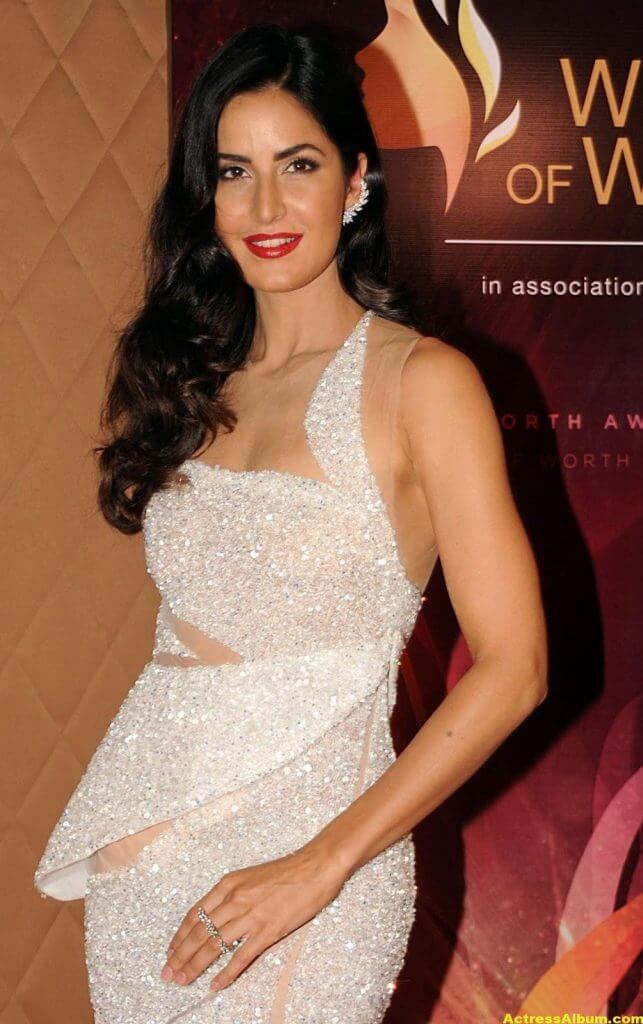 Katrina Kaif Hot Legs Photos In White Gown 3