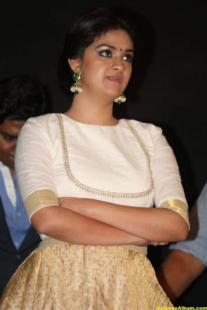 Keerthy Suresh Potos At Audio Launch White Dress 4