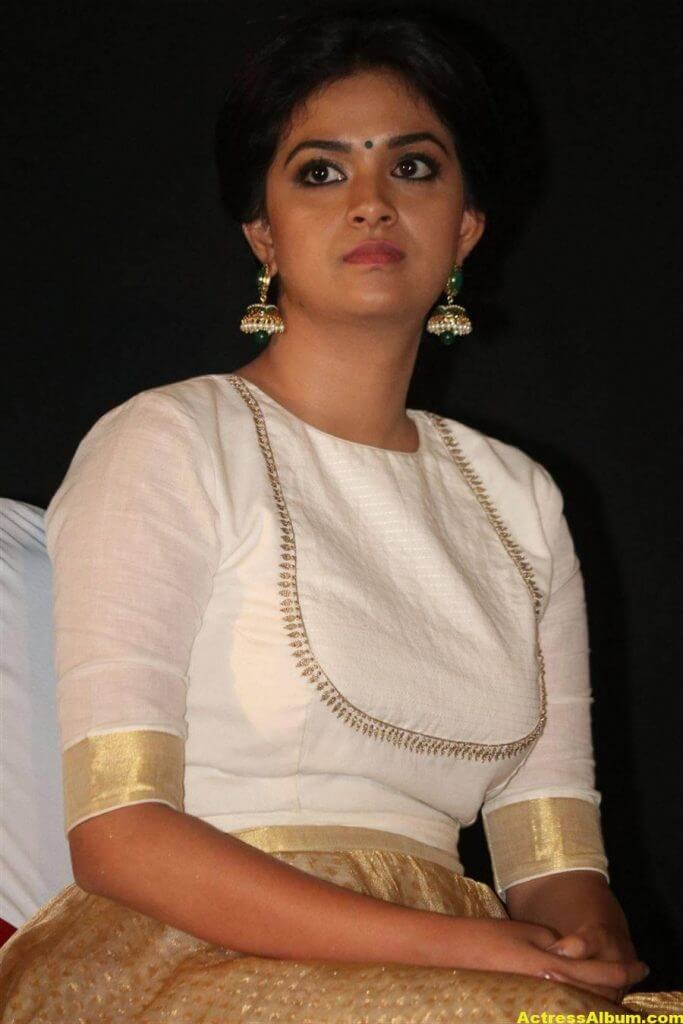 Keerthy Suresh Potos At Audio Launch White Dress 5