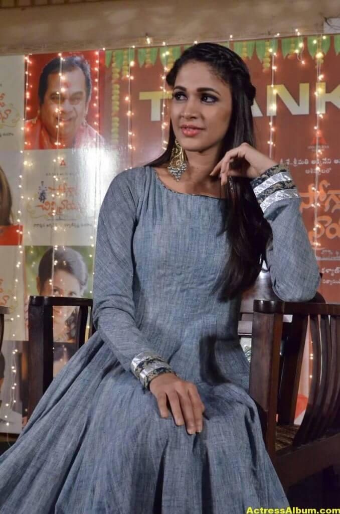 Lavanya Tripathi Latest Hot Photos In Blue Dress 1
