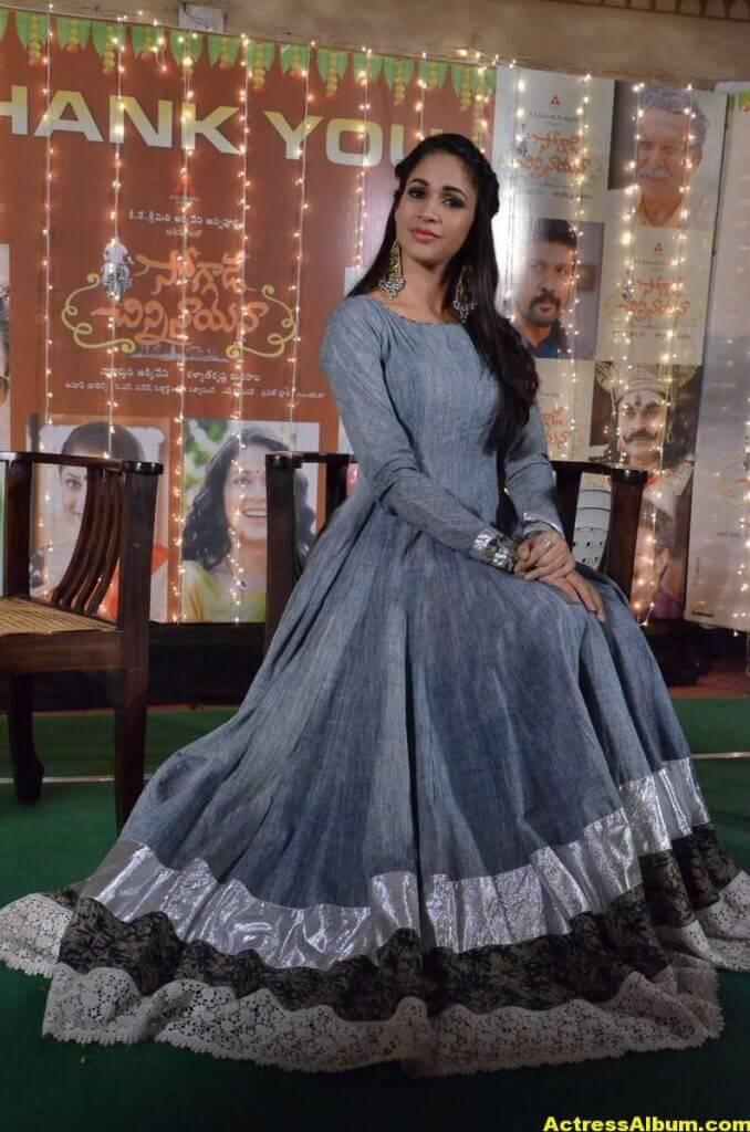 Lavanya Tripathi Latest Hot Photos In Blue Dress 5