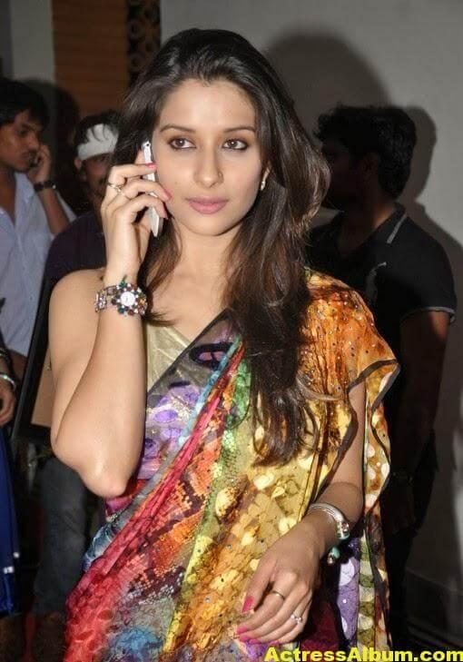 Madhurima Hot Hip Navel Photos In Multi Color Saree (1)