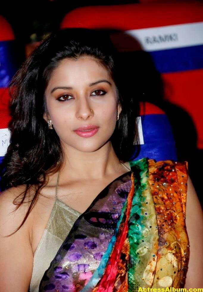 Madhurima Hot Hip Navel Photos In Multi Color Saree (5)