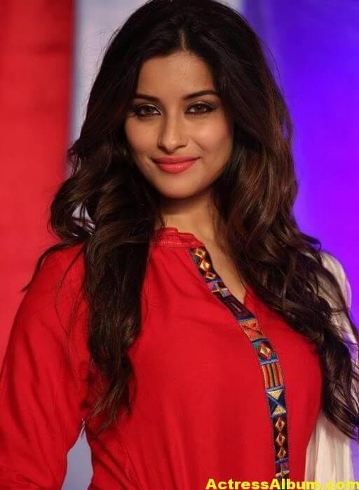 Madhurima Latest Photos In Red Dress 1