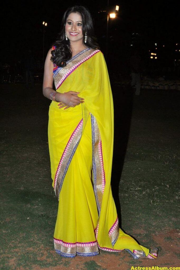 Manalee Hot Photos In Yellow Saree 6