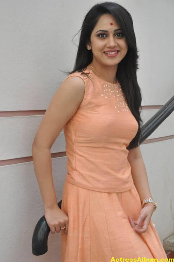 Miya George Stills In Pink Dress (3)