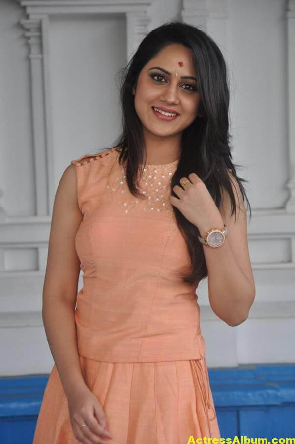 Miya George Stills In Pink Dress (4)