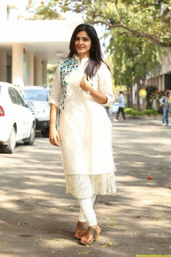 Pavani Gangireddy Hot Photos In White Dress 0