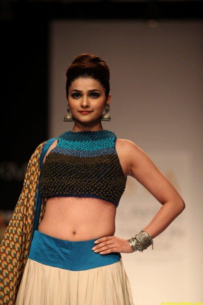 Prachi Desai Navel Show Photos In Blue Top (2)