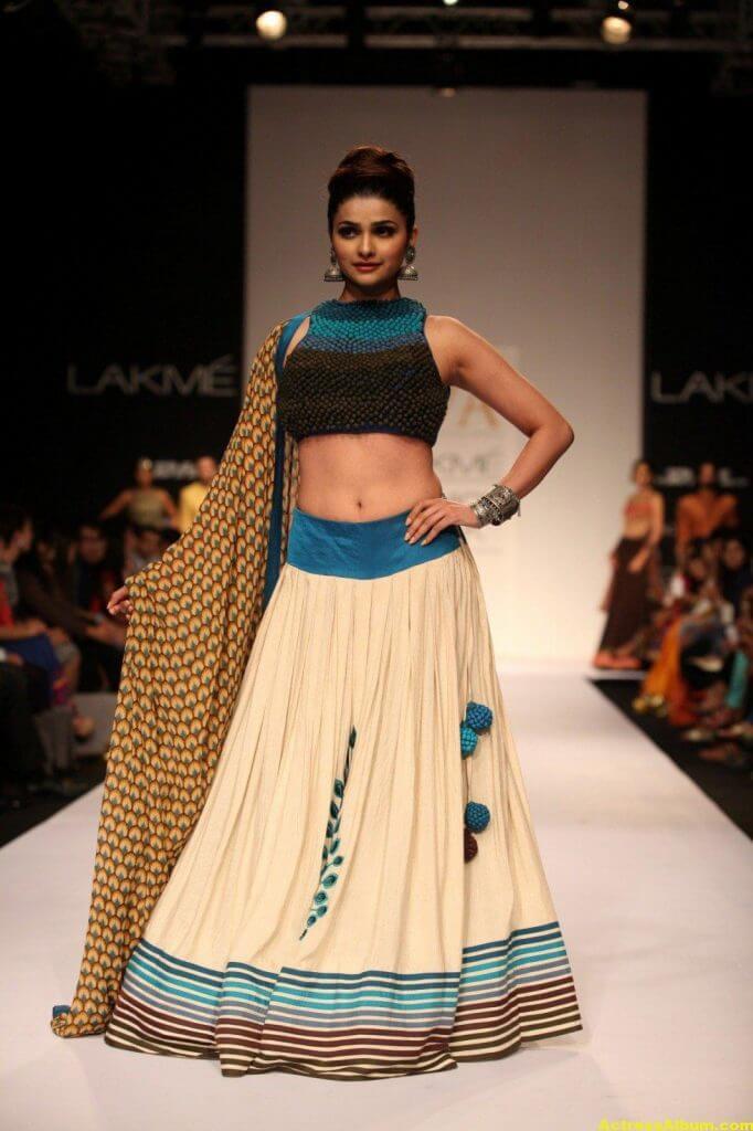 Prachi Desai Navel Show Photos In Blue Top (4)