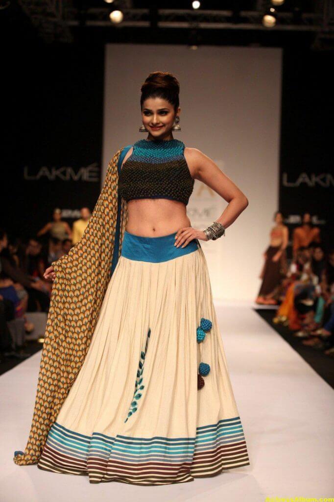 Prachi Desai Navel Show Photos In Blue Top (5)
