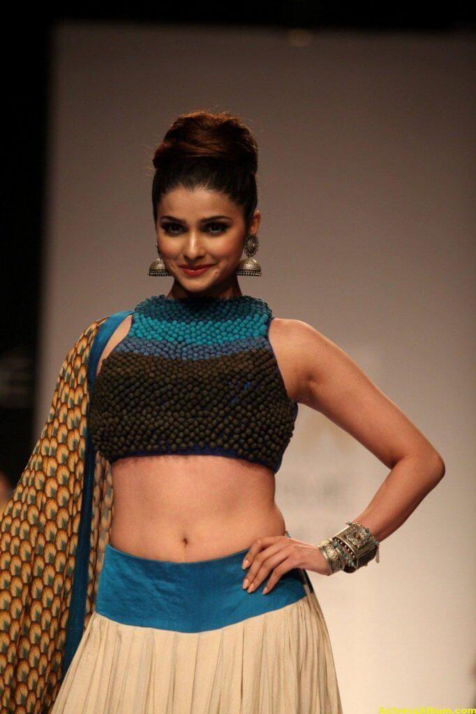 Prachi Desai Navel Show Photos In Blue Top (6)