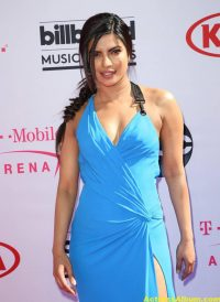 Priyanka Chopra In Blue Dress