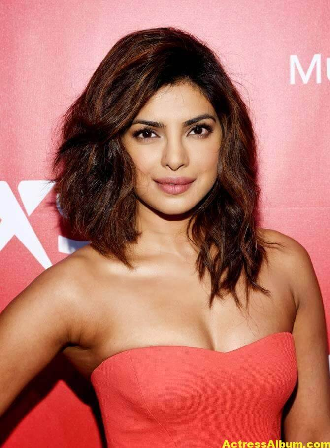Priyanka Chopra Hot Stills in Red Dress 1